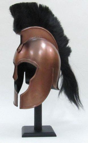 Bronze Replica - Replica Trojan Helmet Antiqued Bronze Finish and Black Plume - Wearable