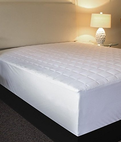 Buy Bargain L'COZEE Quilted Fitted Mattress Pad (King) Hypoallergenic, Mattress Topper, Stretches up...