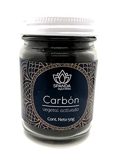 CARBÓN Vegetal Activado en Polvo (50 g) 100% Puro de Coco