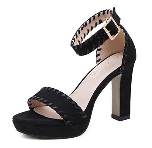 Alustan Kesäkengät Naisten Strappy Laatu Sandaalit Yu Lh Paksu Väri Korot Korkokenkiä nT8tZP