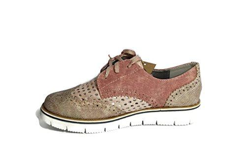 Zapatos ,estilo oxford con cordones Rosa