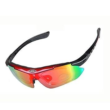 RXYYOS® Gafas de sol Deportes de conducción de motos Ciclismo Bicicleta POLARIZADAS 5 lente gafas