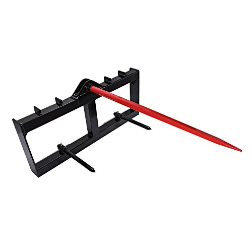 BEAMNOVA 49'' Tractor Hay Spear Attachment 3,000 lb Spike Skid Steer Quick Tach Bobcat by BEAMNOVA