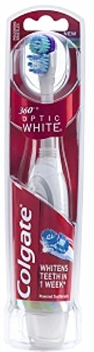 Colgate 360 Optic White Battery-Powered Toothbrush, Soft 1 ea (Pack of 11)