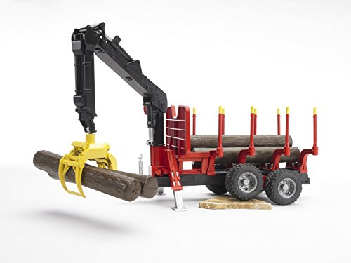 Bruder Forestry Trailer with Crane Grapple and 4 Logs