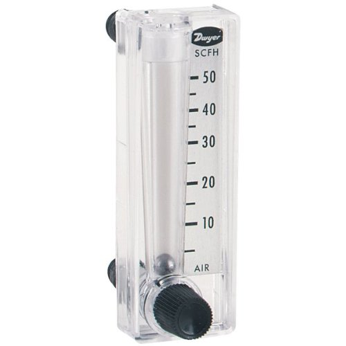 Dwyer Mini-Master Series MMF Flowmeter, Range 0.1-1 SCFH Air, Bottom Mount Valve (Master Meter compare prices)