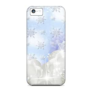 Iphone 5c Case Bumper Tpu Skin Cover For Flowers On Snow Accessories