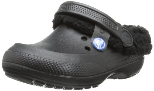 crocs 14462 Blitzen II Lined Clog ,Black/Black,J1  Little Ki