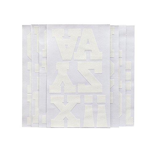 Magfok Iron on Transfer 3-Inch White Flock Letter for Clothing, 7 Sheet (Black or White Optional)