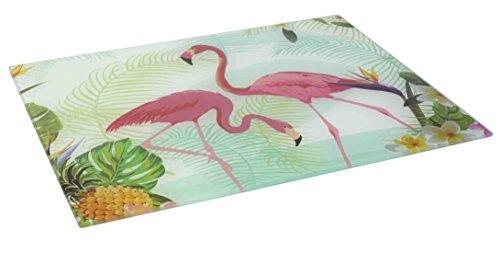 Home Basics Glass Cutting Board (Flamingo)