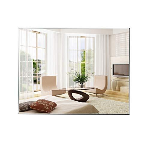 ZHAS Rectangle Wall-Mounted Bathroom Mirror Frameless Bevelled Glass Mirror Vertical Or Horizontal -