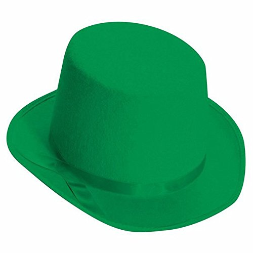 Deluxe Top Hat (Green) Adult (Green Top Hats)