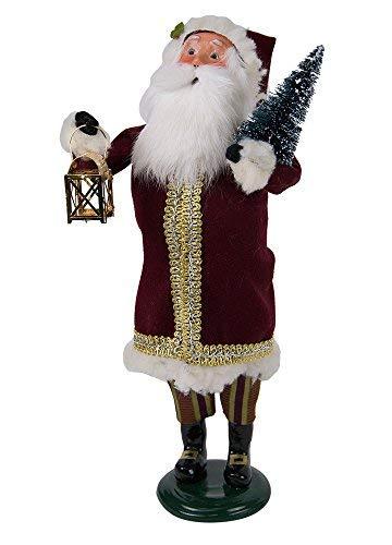 Maroon Santa - Byers' Choice Maroon Santa Caroler Figurine #3186 from The Santa Collection