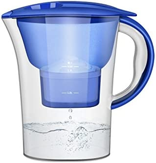 Tunya Filtro de agua Jarra Filtro de pureza Hervidor de agua portátil purificador de agua cocina activado carbón Pureza Filtro de agua Hervidor de agua 2.5L, sistema de filtración de 4 etapas: