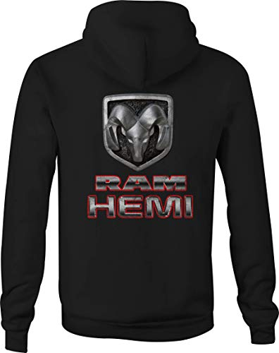 Dodge Zip Up Hoodie Dodge Ram Hemi Mopar Hooded Sweatshirt for Men - 4XL Black