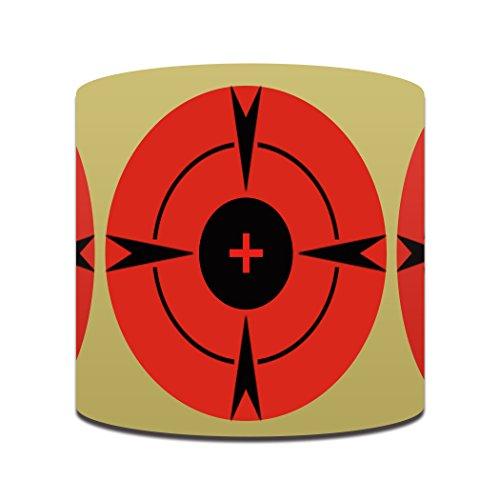 Highwild 3 Inch Self-Adhesive Bullseye Shooting Target Stickers - Bright Neon Orange - 250/Roll ()