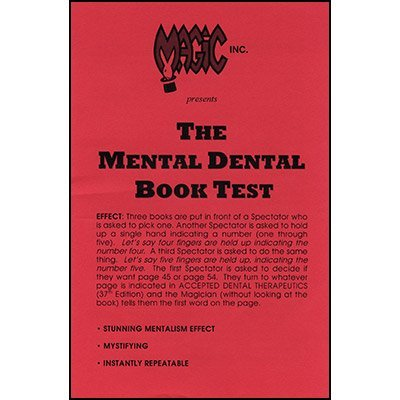 MMS Mental Dental Book Test - Trick by M & M's