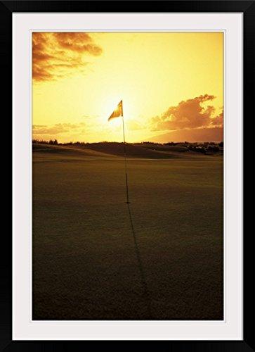 GreatBIGCanvas ''Hawaii, Maui, Kapalua Golf Club Plantation Course'' by Carl Shaneff Photographic Print with Black Frame, 24'' x 36'' by greatBIGcanvas