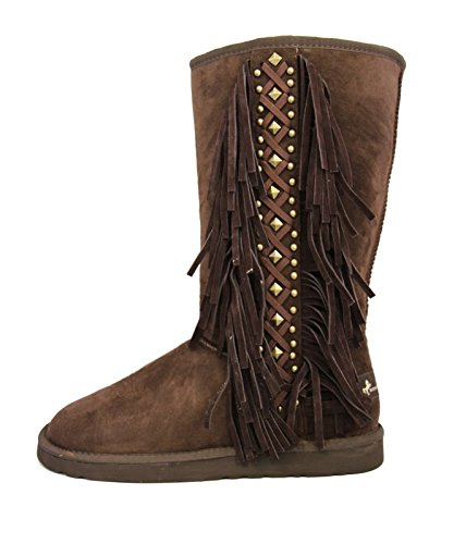Lacing Coffee Fringe Collection Boots West Montana Women WBwx1aPqX