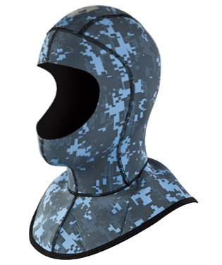 Body Glove Free Dive Camouflage 3mm Plush Scuba Diving Neoprene Hood (Small) ()