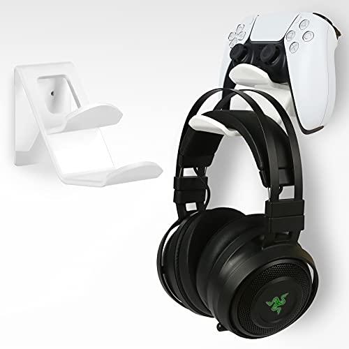 soporte universal para control y auriculares ps5 xbox blanco