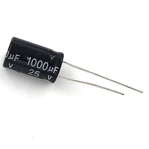 McIgIcM 1000uf capacitor,10pcs Aluminum electrolytic capacitor 1000uf 25v 1017