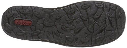 Rieker 50342 - botas de caño bajo de cuero mujer gris - Grau (fumo/fumo/bordeaux / 45)