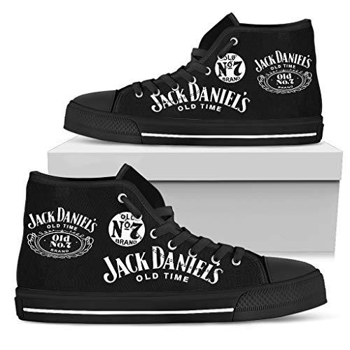 TeeKP Jack Daniel's High Top Shoes Gift Idea for Who Love Jack Daniel's Whiskey