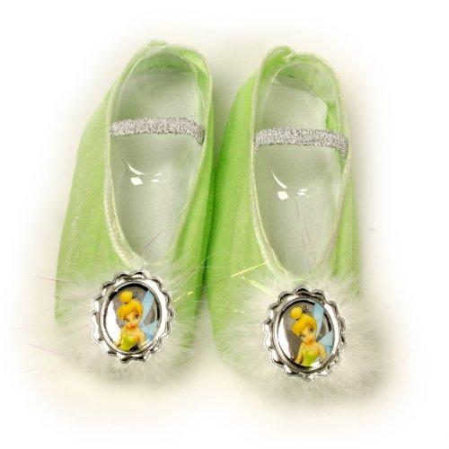 Child Tinker Bell Ballet Slippers, Green, Standard