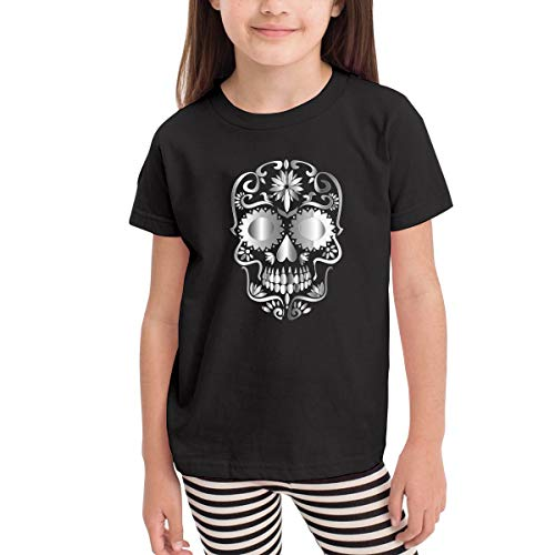 Lixue Youth Prismatic Sugar Skull Day of Dead Short Sleeve Crew Neck Youth & Adult Tees