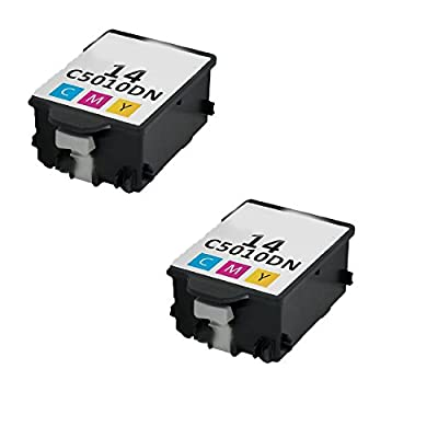 N&L Global CO. 2PK C5010AN HP 14 Color Compatible Ink Cartridge For HP CP1160 Officejet D135 D155 7100's HP Digital Copier 610 (Pack of 2)