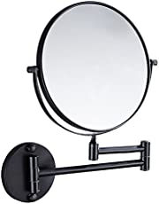 THEE Bathroom Mirror Makeup Mirror Wall Type Cosmetology Magnifier Extensible Double Face Mirror - 8 inch