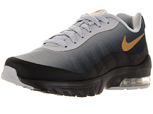 Nike W Air Max Invigor Print, Zapatillas de Deporte para Mujer Negro (Black / Mtllc Gld-Wlf Gry-Cl Gry)