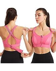 Wireless Supportive Sports Bra, Adjustable Front Zip Sports Bra, Women Post-Surgery Front Closure Sports Bra