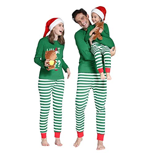 Family Matching Christmas Pajamas Set, Elf Christmas Pjs and Pajama Pants Set (Mama, XL)
