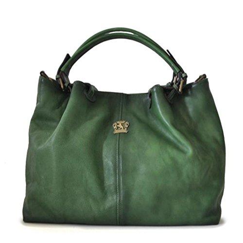 Emerald Green Bag - Pratesi Collodi shoulder bag - B168 Bruce (Emerald)