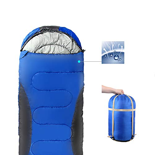 0 degree Sleeping Bag for Kids and Adults – cold weather sleeping bag camping gear compression sack – lightweight Waterproof for big tall great 4 season Hiking backpacking accessories for boys girls