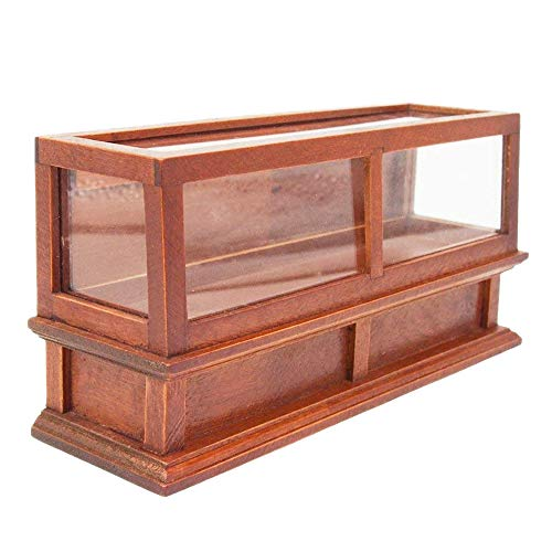 (Odoria 1:12 Miniature Brown Bakery Display Cabinet Dollhouse Furniture Accessories)