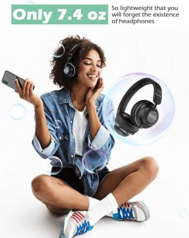Active Noise Cancelling Headphones-SuperEQ S2 Bluetooth On Ear Headphones with CVC 8.0 Mic, Deep Bass, 25H Playtime, 40mm Drivers, Memory Foam Ear Cups for Travel Online Class Office (Black) 41Lc6ZIoK9L