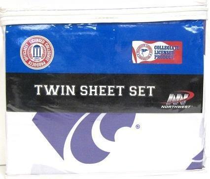 Kansas State Wildcats Twin Sheet Set (Kansas State Sheet Set)