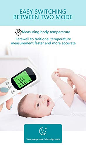 Forehead Thermometer for Adults Forehead and Baby,Kids Forehead Non-Contact Thermometer with Fever Alarm&Temperature of Objects with 1 Second Instant Accurate Reading