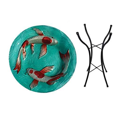 Glass Songbird Birdbath - Songbird Essentials Koi Pond Birdbath w/stand