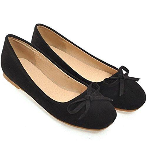 Women Comfort Shoes Flat AicciAizzi Ballet Black 9 WpH0qSZUS