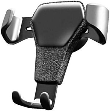 HN 携帯電話スタンド - ユニバーサル滑り止め車の電話ホルダーエアソケットマウントクリップクランプ調節可能な携帯電話スタンドブラケットGPS車重力ブラケット (Color : Black)
