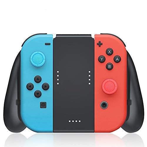 Joy-Con Charging Grip Compatible with Nintendo Switch, USB Type C Charging Cable and 2 Pro Thumb...
