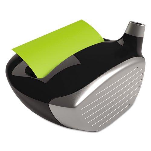 Post-it GOLF330 Post-it Note Disp w/Pencil Holder, Golf Club, 3''x3'' Cap, BK by Post-it