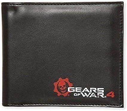 OS Gears of War Negro Logo Oficial Cartera