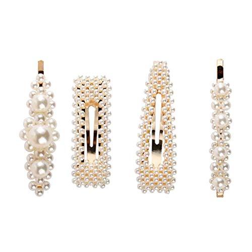 AIUSD Clearance , Hair Barrettes Hair Pins Decorative Wedding Bridal Artificial Pearl Hairpins (Sign Hairpin)