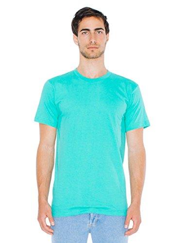American Apparel  Unisex Fine Jersey Short Sleeve T-Shirt, Mint, Large -