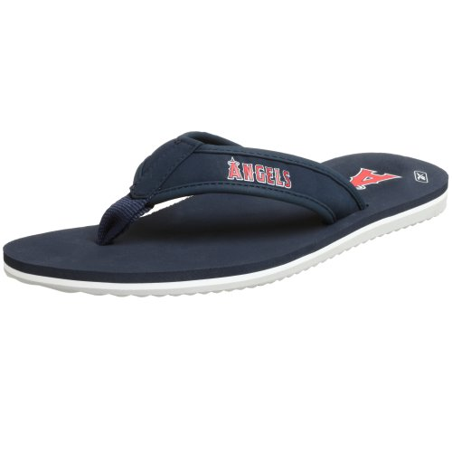 (Reebok Men's MLB Angels Summer Time Flip-Flops,Navy/Red,4 M)